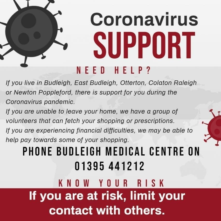 Covid - Budleigh Support Poster